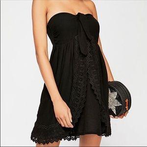 NEW Free People Sweet Time Black Mini Dress